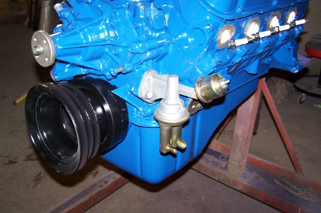 1968 ford 302 oil pressure sending unit location